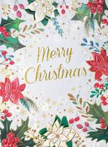 いのちのことば社 59224 クリスマスカードS340-87 ポインセチア ひいらぎ