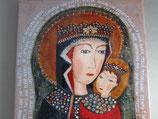 ご絵 タイル 壁掛け聖母子 15×20センチ
