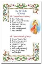 イタリア 羊皮紙 14の慈悲の技 英語祈りカード 6676