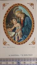ご絵 絵画 LA MADONNA COL DIVIN FIGLIO B-3 11,5×6.7センチ 紙裏白