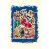 イタリア 羊皮紙 クリスマスカード 1029