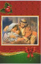 イタリア製 クリスマスカード 定型 聖家族 200-15