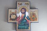イタリア製 合板イコン十字架善き牧者  15×15センチ 厚さ8ミリ