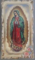 イタリア ご絵 VINCH Guadalupe 10 12.2×6.7センチ 大判飾り縁 箔押しエンボス加工 紙裏白