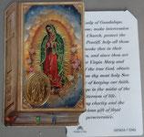 イタリア プラ箔押しカード GENOA聖書型 7 グアタルーペの聖母 8.5×5.5センチ 裏面英語祈り