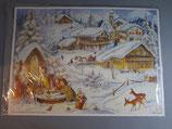 アドベントカレンダー雪の村(ヨコ)XRS065