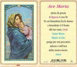 イタリア ご絵 FB SERIE 801-001 マドンナ  6.4×11.4センチ パウチカード OPP袋入り