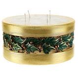 イタリア ヒイラギ、円筒形のクリスマスキャンドル