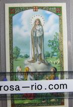 イタリア パウチご絵 ファティマの聖母 顔 11×7センチ