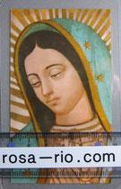 イタリア パウチご絵 グアタルーペの聖母 顔 11×7センチ