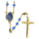 ファティマ16 ファティマの聖母ご出現100年記念ロザリオ Devotional rosaries Centenary Rosary with blue glass beads 6 mm - Faith Collection 16/47