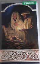 プラハ カラークリスマスカード 聖家族キャンドル