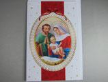 イタリア製 クリスマスカード 定型 聖家族 C1607