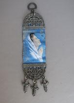 欧州 布製刺繍壁掛け 聖母A 19.5×5センチ  1912-20