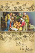 イタリア製 クリスマスカード 定型 馬小屋 C1621 180-7