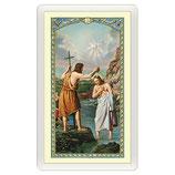 パウチカード イタリア2402  洗礼者ヨハネSantino San Giovanni Battista battezza Gesù nel Giordano Pregh. ITA 10x5