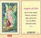 イタリア ご絵 FB SERIE 801-023 守護の天使 6.4×11.4センチ パウチカード OPP袋入り