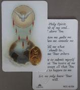 イタリア プラ箔押しカード RCC 42  8.3×5.5センチ 裏面英語祈り