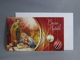イタリア製 クリスマスカード 定型小型 C1532