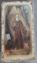 イタリア ご絵 VINCHI San Antonio Abate 22 12.2×6.7センチ 大判飾り縁 箔押しエンボス加工 紙裏白
