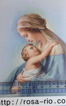 ご絵 手判 聖母子D C-49 14×9センチ 紙裏白