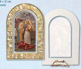 ネコポス不可 イタリア 樹脂たて 聖ヨセフ 聖家族 ラメ箔 12×8×3センチ 1000-977