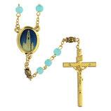 ファティマ37 ファティマの聖域のロザリオ  Devotional rosaries Rosary Sanctuary of Fatima, blue glass 6 mm - Faith Collection 37/47
