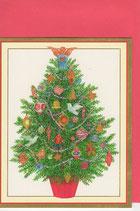 Caspari 英語 クリスマスカード 定型小型 聖霊ツリー