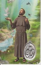 イタリア メダイカード アッシジの聖フランシスコ 6885