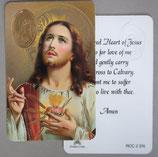 イタリア プラ箔押しカード RCC 2  8.3×5.5センチ 裏面英語祈り