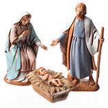Moranduzzo6.5cmによるキリスト降誕のシーン聖家族