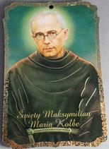 箔板絵 聖コルベ 10×6.5センチ×3ミリ