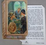 イタリア プラ箔押しカード GENOA聖書型 14 聖家族 8.5×5.5センチ 裏面英語祈り