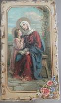 イタリア ご絵 VINCH Santa Anna 21 12.2×6.7センチ 大判飾り縁 箔押しエンボス加工 紙裏白
