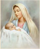 イタリア FB ご絵 20×25センチ紙 8.10-1684  聖母子