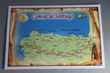 サンチャゴ デ コンポステーラ 巡礼の道絵はがき B