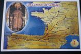 サンチャゴ デ コンポステーラ 巡礼の道絵はがき D
