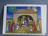 女子パウロ会 クリスマスカード 定型 馬小屋を訪れた三賢人