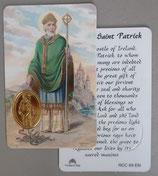イタリア プラ箔押しカード RCC 69 聖パトリック 8.3×5.5センチ 裏面英語祈り
