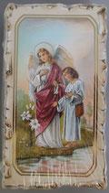 イタリア ご絵 VINCH San Raffaele 27 12.2×6.7センチ 大判飾り縁 箔押しエンボス加工 紙裏白