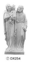 イタリア アラバスター(雪花崗岩)製 22センチ 聖家族立像 DX254