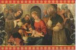 イタリア製 クリスマスカード 定型 聖家族と三賢人 220-27