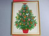 クリスマスカード 定型小型 聖霊ツリー