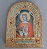イタリア サンジャミーノの聖Fina  板絵  1910-75.6