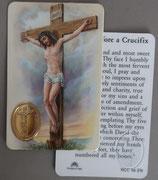 イタリア プラ箔押しカード RCC 56  8.3×5.5センチ 裏面英語祈り