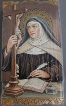 イタリア ご絵 Eucaristina アビラの聖テレサ 036 10.7×6センチ 飾り縁箔押し 紙裏白