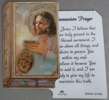 イタリア プラ箔押しカード GENOA聖書型 19  8.5×5.5センチ 裏面英語祈り
