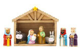 LDW Nativity Set statue 51 AVAILABLE Nativity Set statue 160019YX ご降誕の馬小屋セット三賢人 聖母子 動物 20×16センチ(馬小屋)