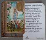 イタリア プラ箔押しカード GENOA聖書型 18 ファティマ 8.5×5.5センチ 裏面英語祈り