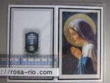 ご葬儀 典礼カード 2つ折り 14.5×11.5センチ 聖母マリア